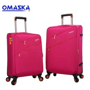 Factory Wholesale Nylon 20 24 28 inch 2 pcs 3 pcs set Business Matching Color Bags Suitcase Colourful Travel Trolley Luggage Bag
