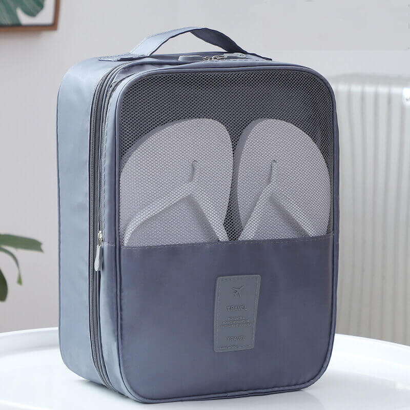 Original Factory Waterproof Cartoon Suitcase - Factory direct twill Oxford cloth shoes travel storage three shoes bag storage bag travel shoes bag – Omaska