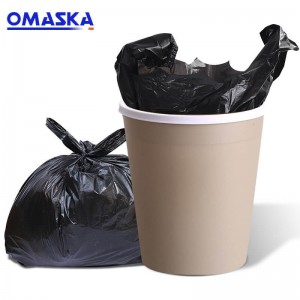 New material thickened portable black garbage bag household kitchen disposable vest type plastic garbage bag wholesale