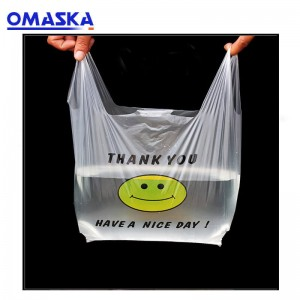New Smiley Bags Customized Supermarket Shopping Bags Takeaway Packaging Bags Vest Plastic Bags
