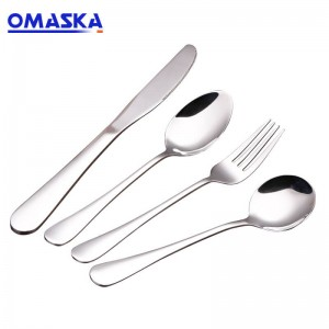 Western-style steak knife and fork Western tableware wholesale custom logo knife and fork spoon set stainless steel spoon