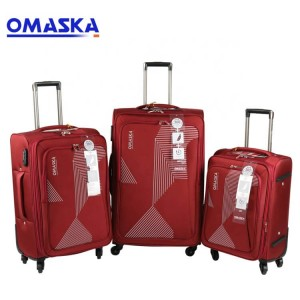 Luggage bag factory hot selling 2019 OEM logo nice quality 3pcs set spinner wheel traveling luggage roller bag