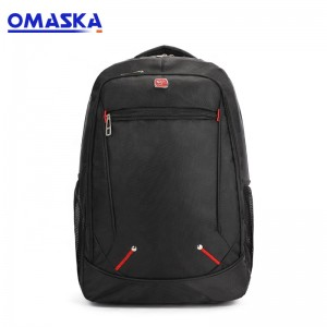 OMASKA Custom Wholesale New Design Hot selling Cheap 1680D Nylon Men Women Black Business Travelling Laptop Back Pack School Bag Backpack Bag