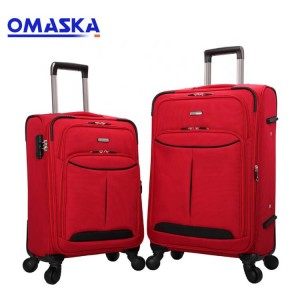 New Design OMASKA Baigou Factory 20 24 28inch 4 hjól Custom Nylon 3 stk stilla Ferðast Carry on Trolley Soft Luggage
