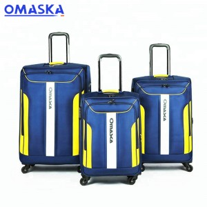 Wholesale fabric carry on luggage with wheels