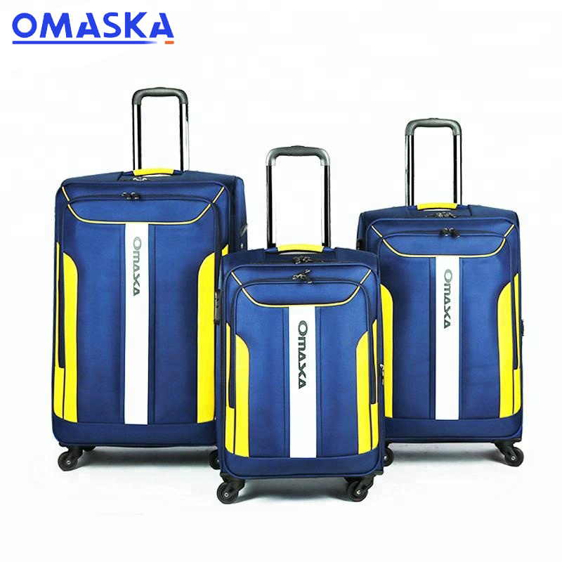 Good quality Polycarbonate Suitcase - Wholesale fabric carry on luggage with wheels – Omaska