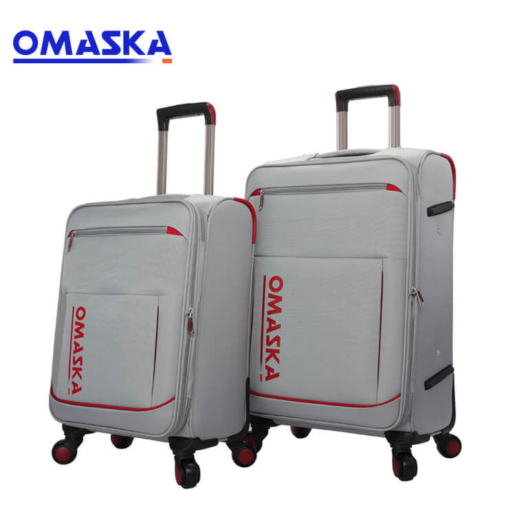 Best Price for School Bags - New Product 2019 Business Fashion Suitcase Set Nylon Soft Black Grey Travel Bag Trolley Hand Carry Luggage – Omaska