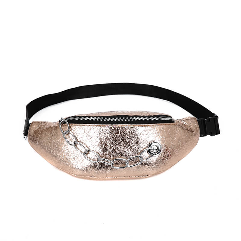 New design fashionable pu waist bag, sport running waist bag