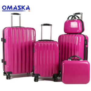 New style High Quality luggage bags Pink 20 24 28 abs luggage sets