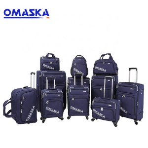 OEM manufacturer Ladies Hand Bags - OMASKA Amazing 12pcs Travel Removable Wheel Iron Trolley Save Space Night Reflective Luggage – Omaska