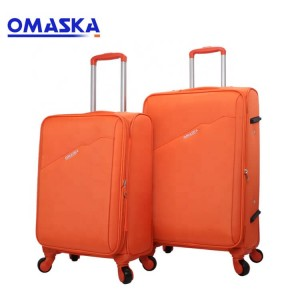 OMASKA Hot Selling Nylon Matching Color 4 Spinner Wheels Carron On Soft Suitcase Luggage Bag Travel Bags Trolley Case Luggage