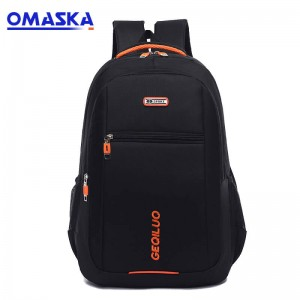 OMASKA backpack factory small MOQ wholesale custom cheap laptop backpack bag