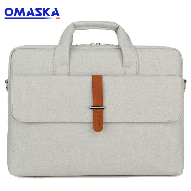 Wholesale Customised Bag Accessories - OMASKA laptop bag factory leisure men women new design custom 13inch 14inch 15inch waterproof computer travel bag – Omaska