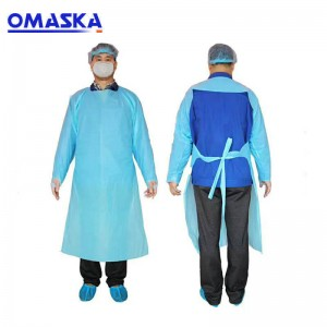 PE coating Isolation gown