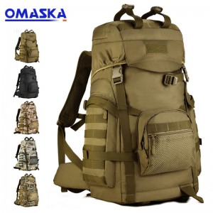 60L Large Capacity Outdoor Mountaineering Bag Army Fan Backpack Waterproof Travel Bag Sports Travel Backpack