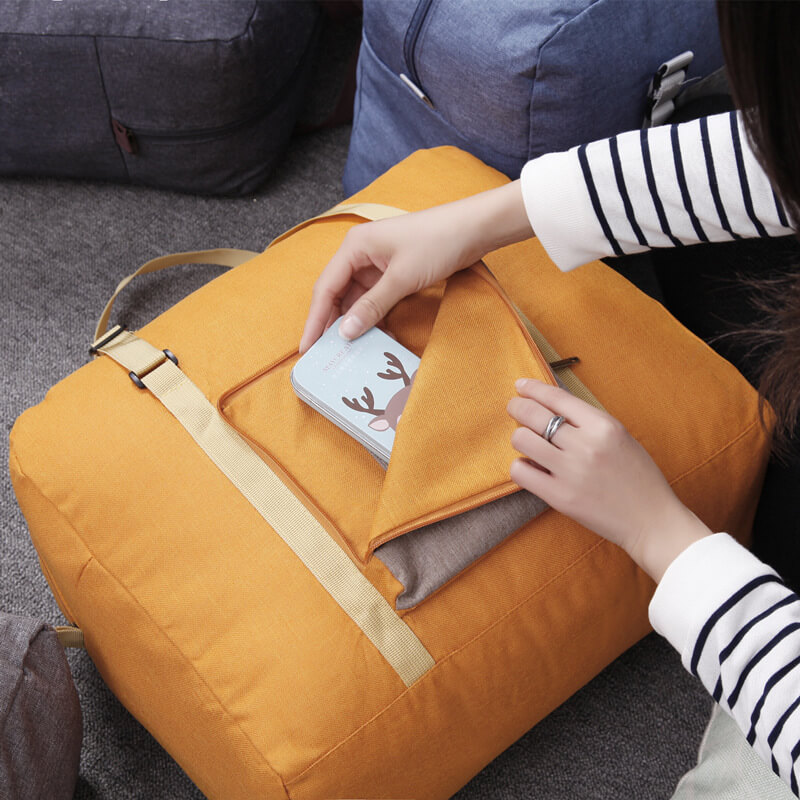 Simple portable folding travel bag luggage bag storage bag Men and women boarding bag Cationic bag
