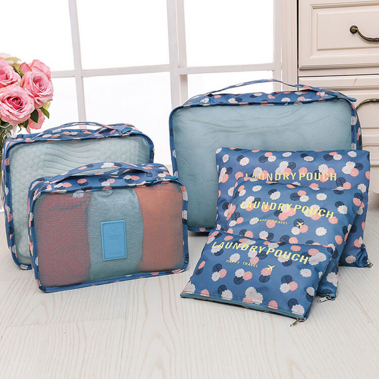 Travel storage bag 6 sets of luggage bag group travel clothing storage finishing bag flower cloth series storage six sets