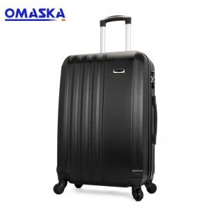 Omaska brand 3 pcs set wholesale OEM production abs luggage sets