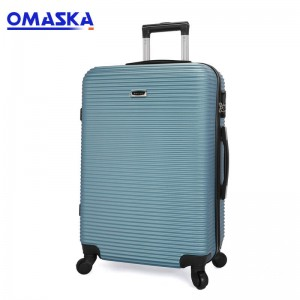 Omaska brand 3pcs set high quality competitive suitcase abs trolley luggage