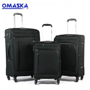 2020 OMASKA new 3pcs set soft luggage sets custom suitcase