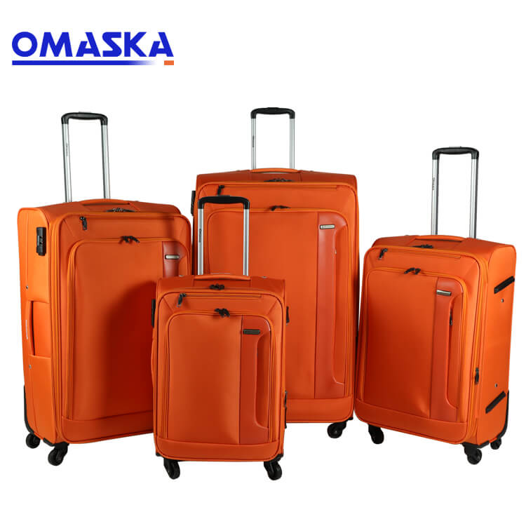 Bottom price Custom Suitcase Cover - 4pcs set spinner wheel famous suitcase factory wholesale nice quality custom logo suitcase – Omaska