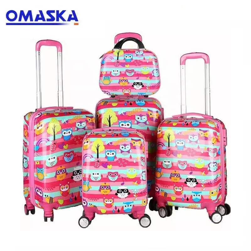 OMASKA China wholesale 2020 new durable hot sell cartoon picture wheeled kids luggage makeup case children travel suitcase set Featured Image