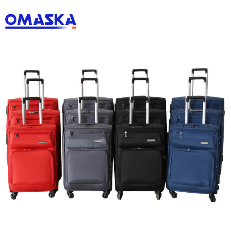 Reasonable price Customised Bag Accessories - Business fashion factory wholesale custom logo spinner wheel 3pcs set spinner wheels soft nylon trolley suitcase luggage bag – Omaska