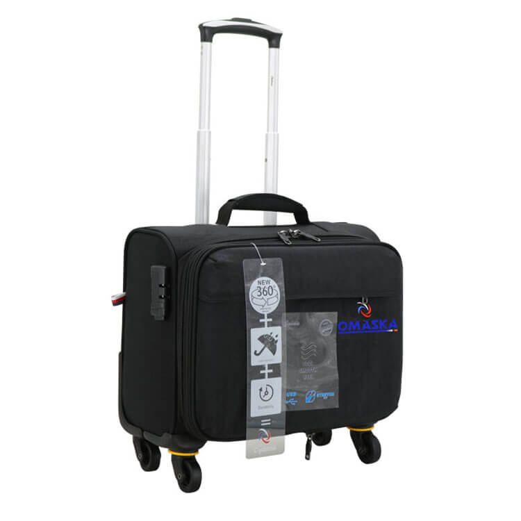 Fast delivery Transparent Suitcase Covers - Omaska brand China famous luggage bag factory 13″ removable wheel carry on cabin bag – Omaska