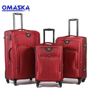 OMASKA suitcase luggage 2020 new 3pcs set soft ...