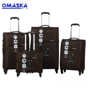 Manufacturing Companies for Hot Sale Custom Back Pack - OMASKA 4PCS set 7047# 14″20″24″28″ soft customized wholesale Mens Travel Luggage Bag – Omaska