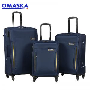 Cheap PriceList for Wheels Suitcase - OMASKA factory 3PCS set 20″24″28″  8025# new design wholesale customized logo Luggage Trolley – Omaska
