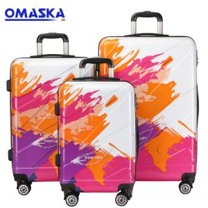 OMASKA brand hot selling 3 PCS set 20″24″28″ Abs Pc Luggage