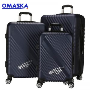 OMASKA brand 3pcs set 20″24″28″ wholesale hot selling competitive Abs Travelling Luggage