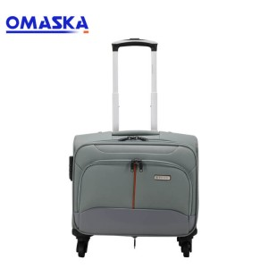 13″ spinner wheel aluminum trolley for pilot bag custom logo wholesale trolley pilot flight bag