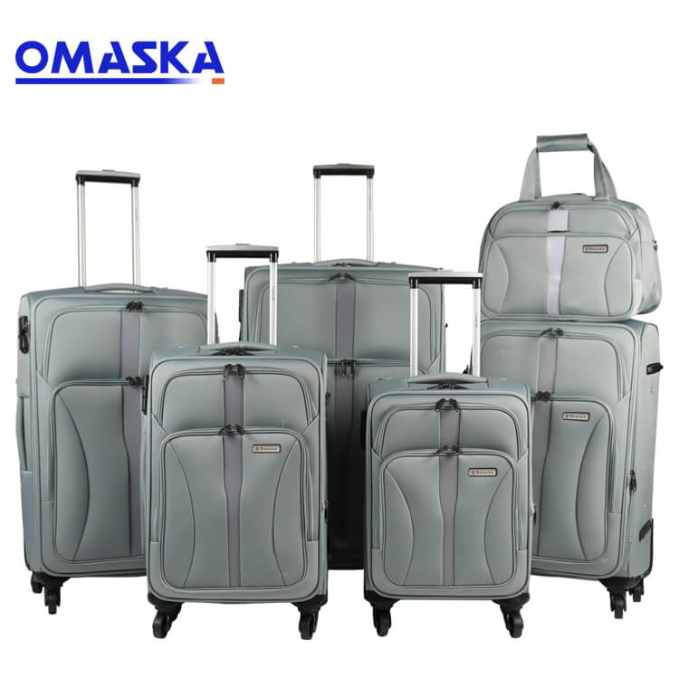 8 Year Exporter Business Suitcase Male - 6pcs set suitcase soft nylon factory oem customize logo wholesale luggage trolley bags soft suitcase – Omaska