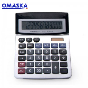 Factory direct sales 837 large screen 12-bit display true solar calculator Financial office special calculator