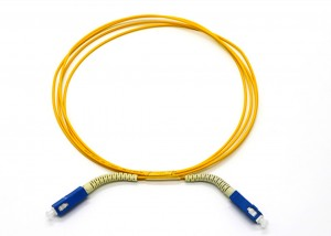 Fiber Patch cord with Free bend tail sleeve for SC/LC