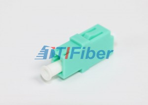 Gigabit Ethernet OM3 Aqua Optical Fiber Adapter For Fiber Optic Patch Cord