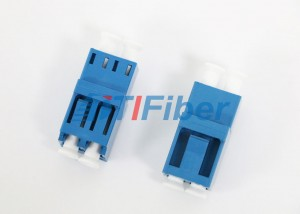 Blue Duplex Fiber Optic Adapter High Return Loss Lc To Lc Adapter