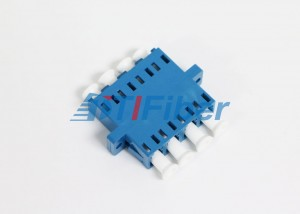 Quad LC Single Mode Fiber Optic Connector Adapters For Telecommunication