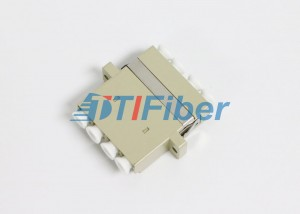 Multimode LC Quad Fiber Optic Adapter with ABS Housing , Ceramic Sleeve