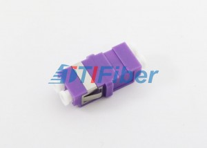 100% Test Fiber Optic Adapter OM4 LC with Purpl...