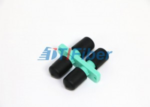 ST Duplex Optical Fiber Adapter OM3 Aqua Plastic Housing For Telecommunication