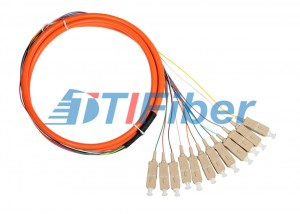 Bundle Fiber Optic Pigtail for CATV Network with Multimode SC Connectors