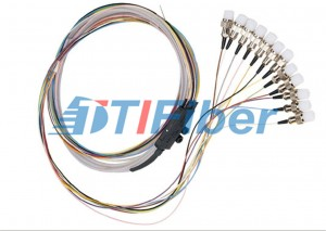 Ribbon Single Mode Fiber Pigtails With FC Fiber Optic Connector