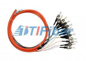 ST Fiber Optic Pigtail Muticore Fiber Cable with OFNP OFNR Jacket
