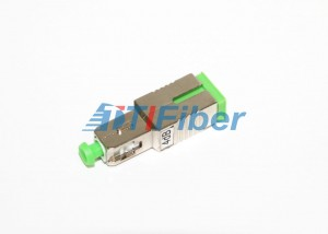 SC APC Fiber Optic Attenuator with Female to Male Structure Metal Housing