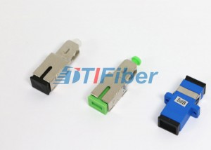 SC UPC Fiber Optic Attenuator Fixed Type High Precise Attenuation 5 Db Attenuator