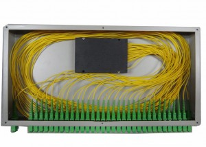 1×16 PLC Optical Fiber Splitter For Rack Mounted Fiber Terminal Box