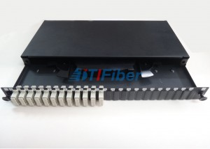 1U Height ODF Fiber Optic Patch Panel for SC Multimode FTTH Solution